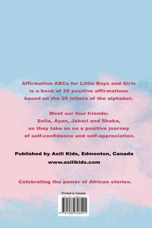 Affirmation ABCs for Little Boys and Girls by Dorothy Ghettuba Pala Back Cover