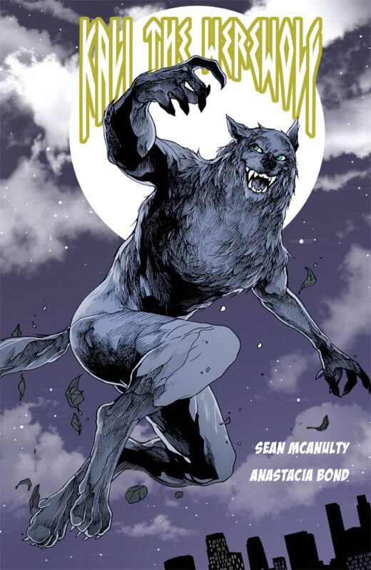front cover of kali the werewolf by sean mcanulty
