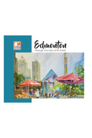 front full cover of edmonton through the eyes of its artists by swca
