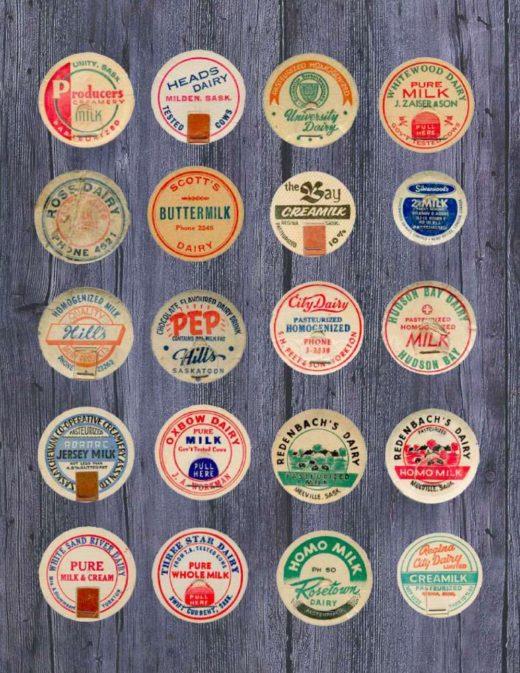 milk bottles of Saskatchewan by Bob Snyder - dairy bob