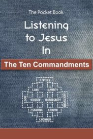 The Front cover of Listening to Jesus In The Ten Commandments
