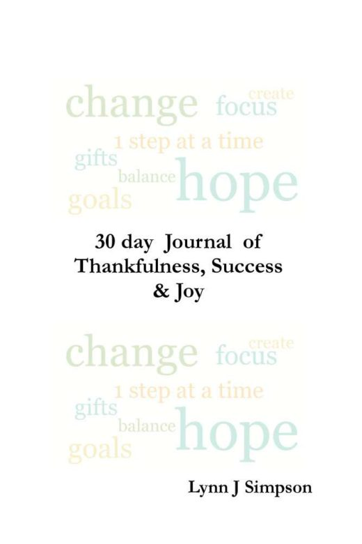 30 day Journal of Thankfulness