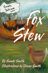 The Front Cover of Fox Stew. Features a fox sleeping in a pot of stew